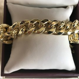 10K Custom Made Gold Bracelet